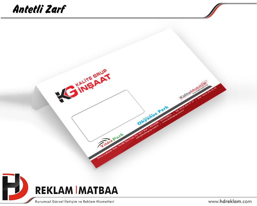 Antetli Zarf