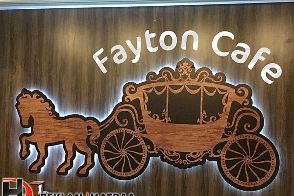 Fayton Kafe İç Mekan Ledli Tabela